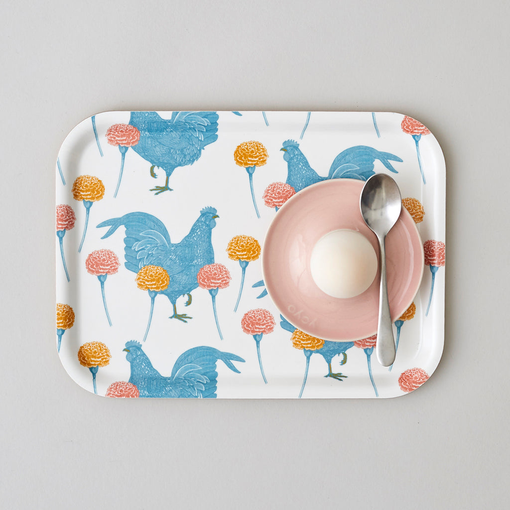 Chicken & Carnation Tray Small