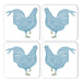 Chicken Coaster Set of Four