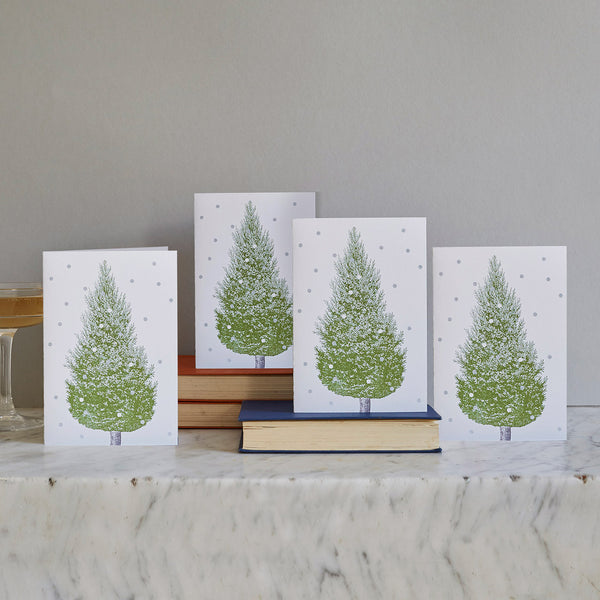 Christmas Tree Cards Set of 12