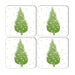 Christmas Tree Coaster Set of Four