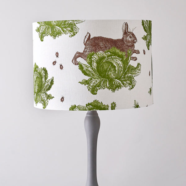 Classic Rabbit & Cabbage Floor Lampshade