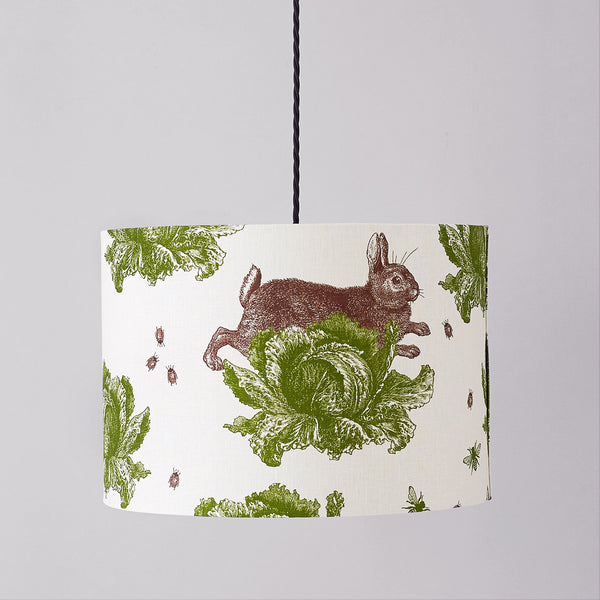 Classic Rabbit & Cabbage Pendant Lampshade