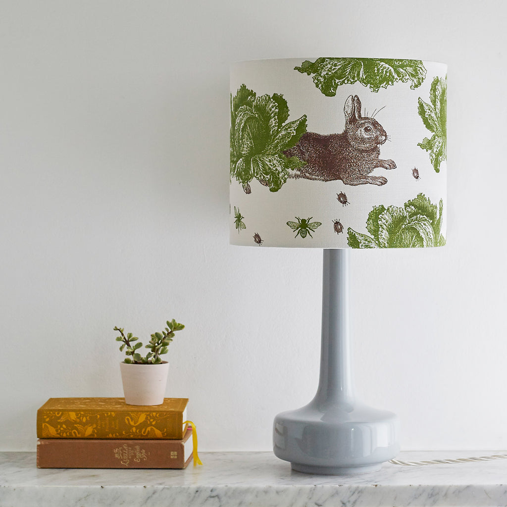 Classic Rabbit & Cabbage Table Lampshade