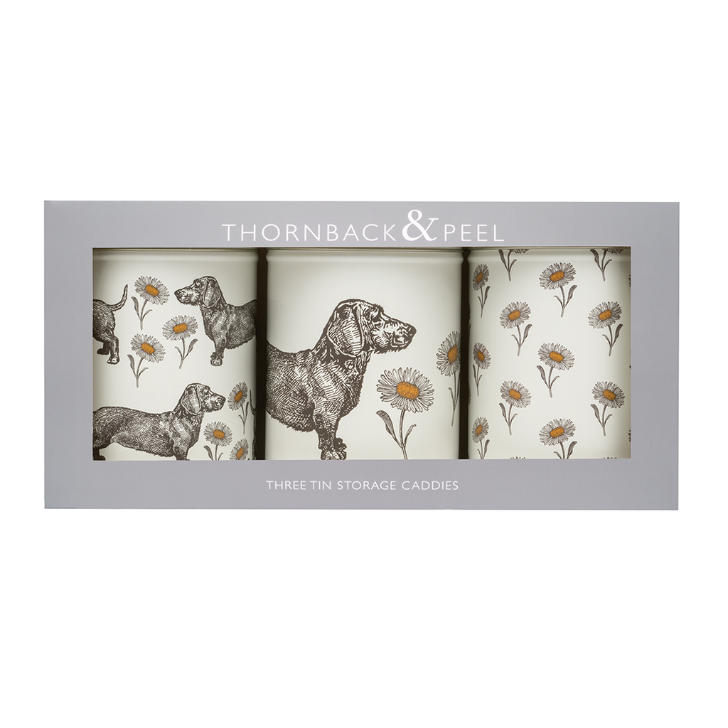 Dog & Daisy Caddy Tin Set
