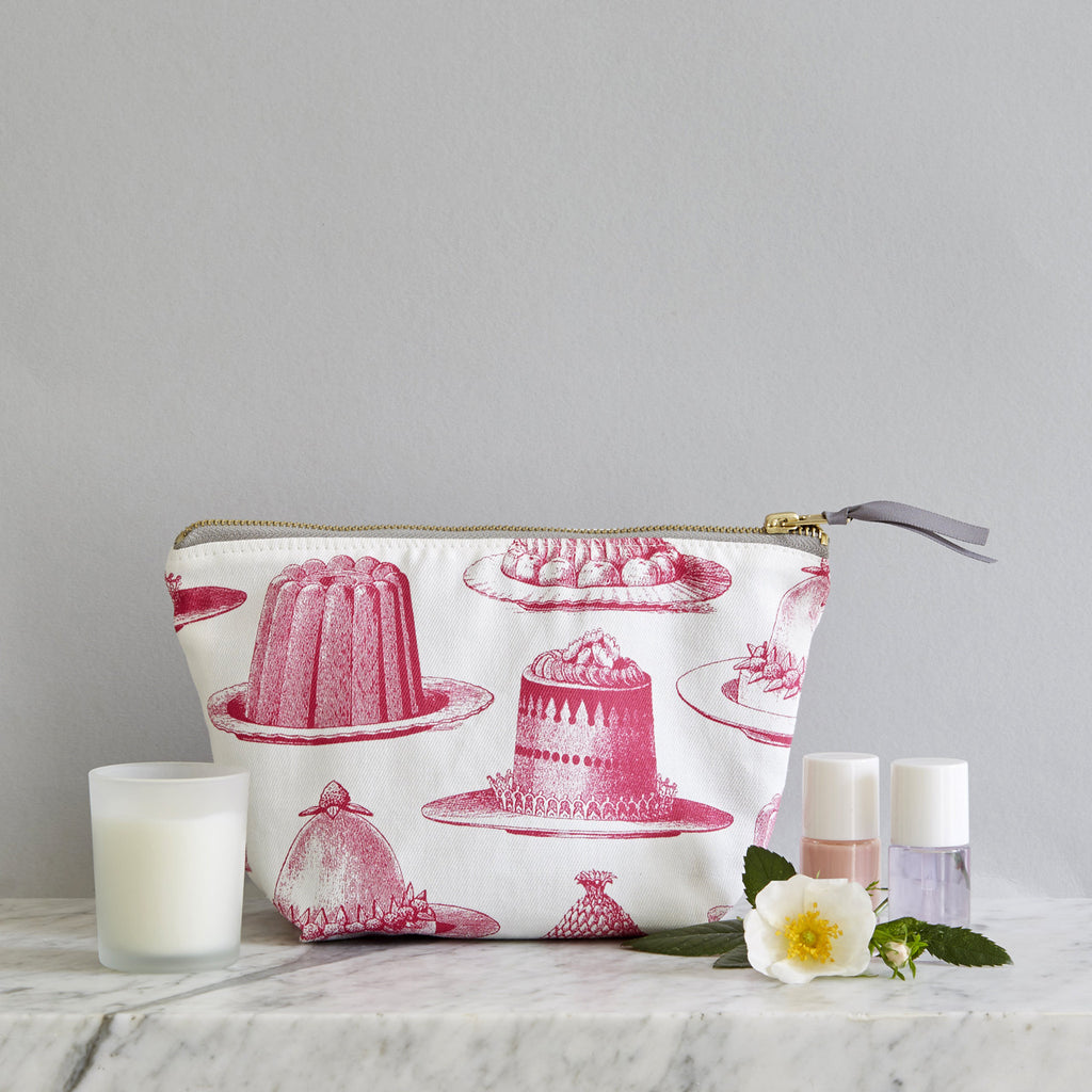 Pink Jelly & Cake Cosmetic Bag