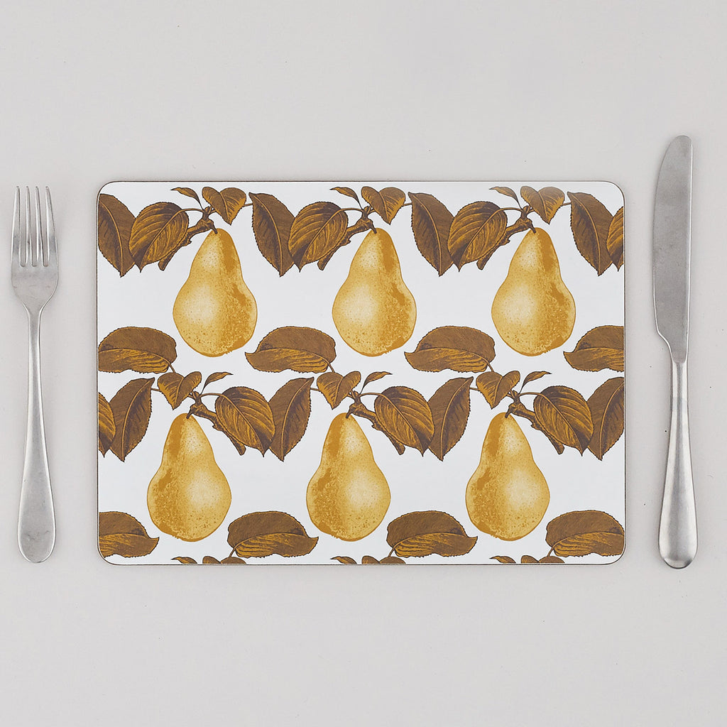 Pear Placemat Set of Four