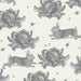 Grey Rabbit & Cabbage Oilcloth Sample