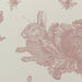 Pink Rabbit & Cabbage Wallpaper Sample