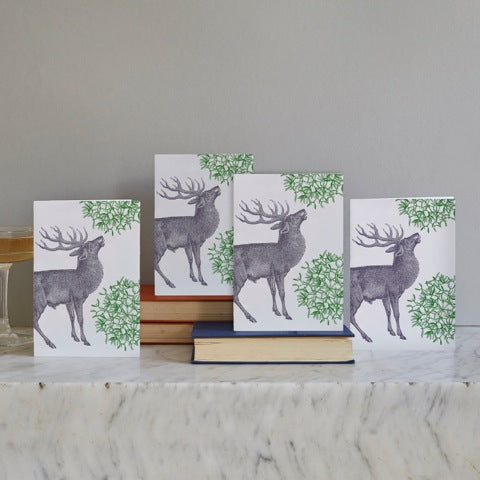 Stag & Mistletoe Christmas Card Set of 12