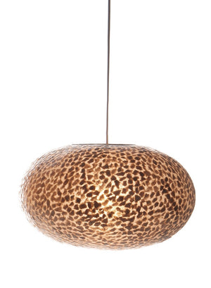 Unusual Callisto Ovo Shade by Collectiviste - Gold oyster shell Pendant Light