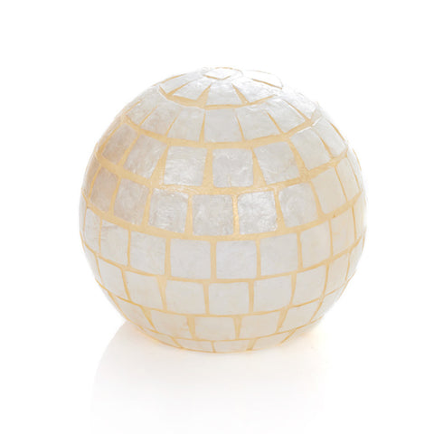Triton Globe Lamp by Collectiviste - Unique Mother of Pearl Table Lamp