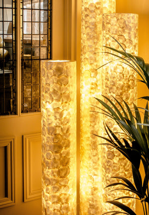 Unusual Amroth Column Light by Collectiviste - Shell Floor Lamp