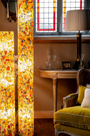 Calypso Tall Stained Glass Floor Lamp (Available in 2 sizes)