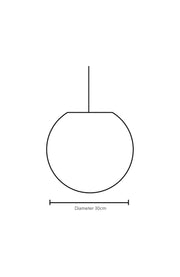 Dimension Illustration Elara 30cm Ceiling Sphere