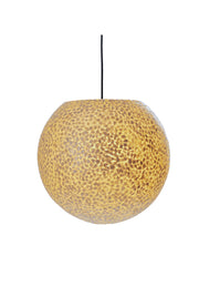 Elara white globe light shade. Mother of pearl finish. (ON)