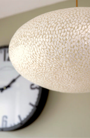 Elara White Ovo Ceiling Shade (Available in 2 Sizes)