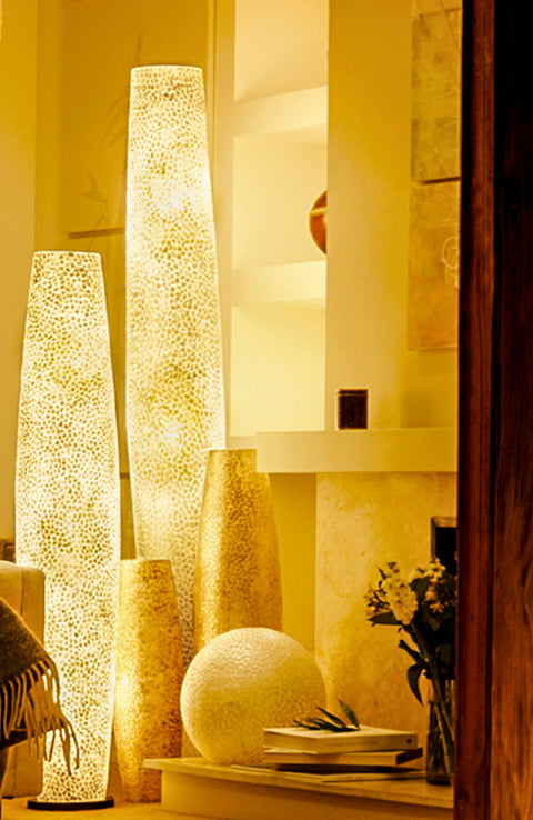 Mother of Pearl floor lamps by Collectiviste - 4 heights available (70cm/100cm/150cm/200cm)