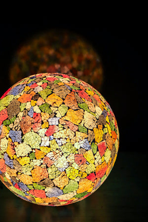 Calypso Stained Glass Globe Lamp (Available in 2 sizes)