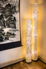Collectiviste tall column floor lamps - handcrafted unique and unusual home lighting - Global home decor