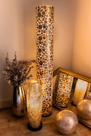 collectiviste lighting midas gold oyster shell unusual floor lamp
