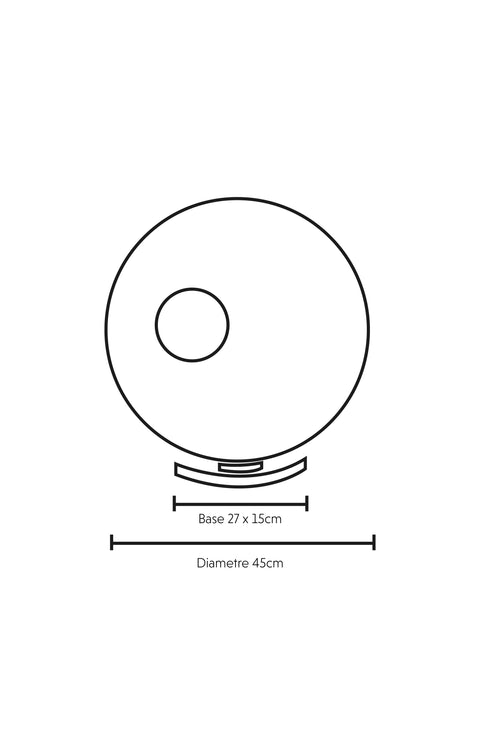 Dimensions Illustration Callisto Torus Lamp