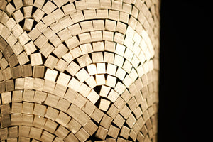 mosaic glass lamp detail by collectiviste lighting