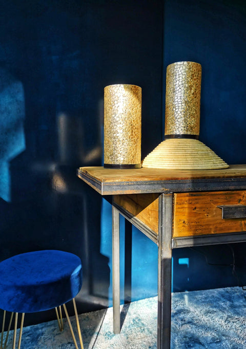 Callisto Gold Table Lamp Duo