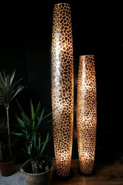 Pebble Tall Gold Floor Lamp