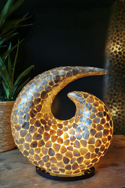 Pebble Gold Swirl Lamp