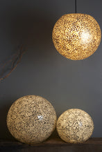 Collectiviste Amalthea Globe Lamp Large - Stone fired Frosted Glass on Black Resin