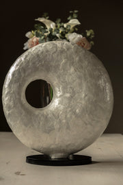 Statement lamp 45cm x 45cm - handcrafted with oyster shells by Collectiviste