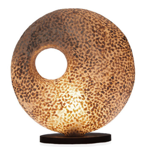 Callisto torus gold table lamp by Collectiviste