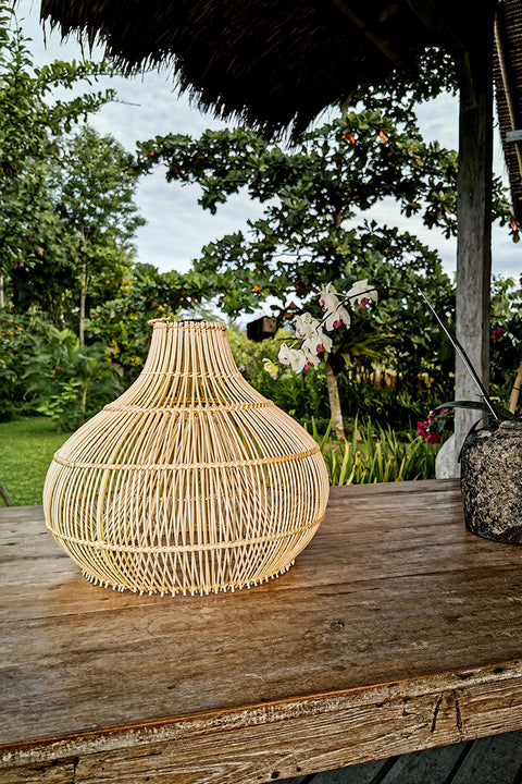 Rustic Rattan Light Shade