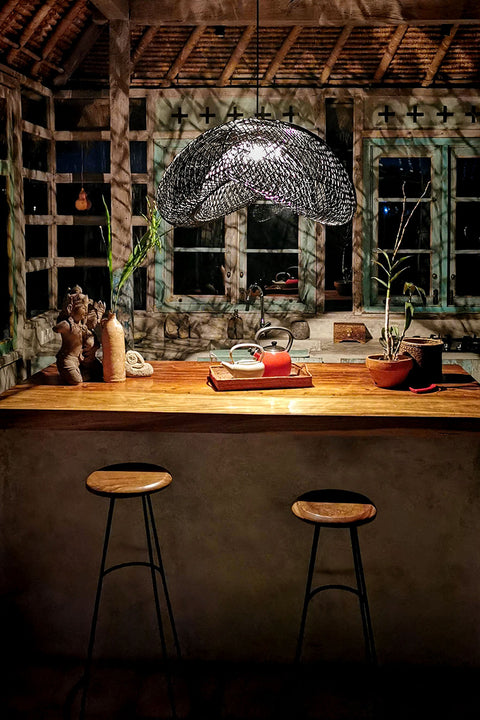 Truffle Rattan Light Shade