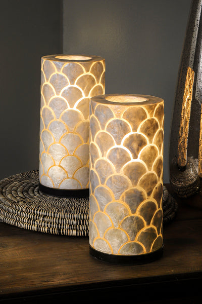 Collectiviste home lighting - Table lamps made of mother of pearl unique and unusual home decor