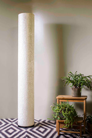 Elara White Column Floor Lamp 150cm