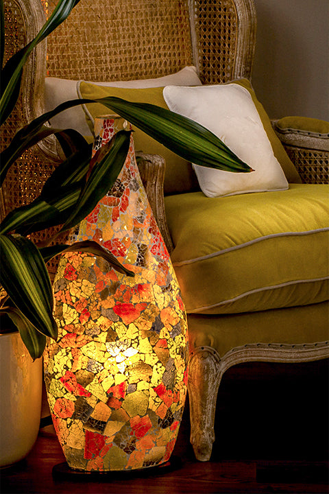 collectivist handcrafted lighting -  glass mosaic lamps