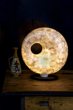 Unique Amroth Torus Lamp by Collectiviste lighting - Shell table lamp