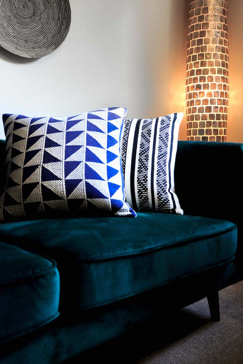 Luxury handwoven cushions from Colombia. Collectiviste Home Decor