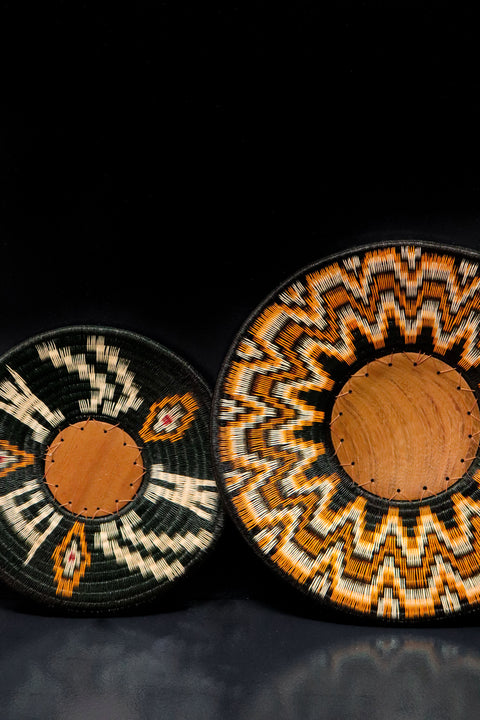 Indigenous design decorative trays. Exceptional home accessories from the rainforest.