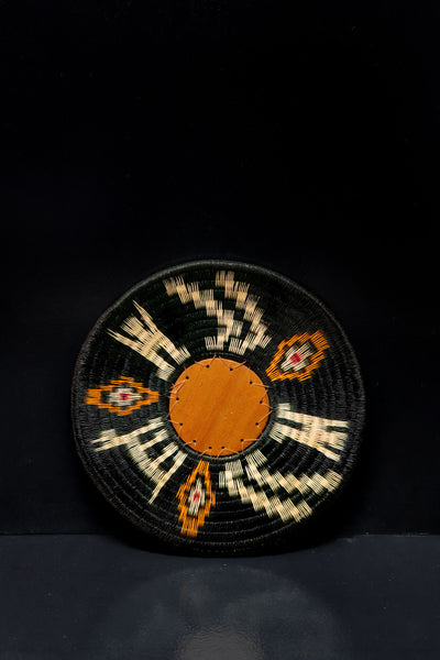 Werregue Decorative Tray. Handwoven by Wounaan tribe in SOuth America. Indigenous Decor