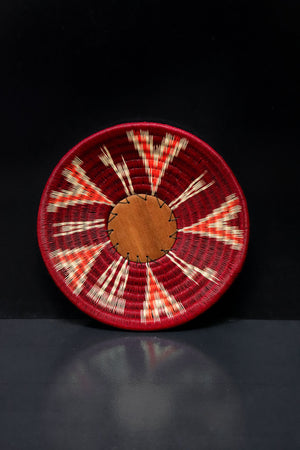 Maroon Small Wounaan Tray
