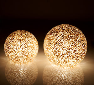 Collectiviste mother of pearl shell globe table lamp lights
