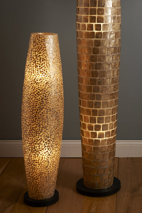 Unique gilded shell lighting by Collectiviste - gold shell floor lamps - gold home decor