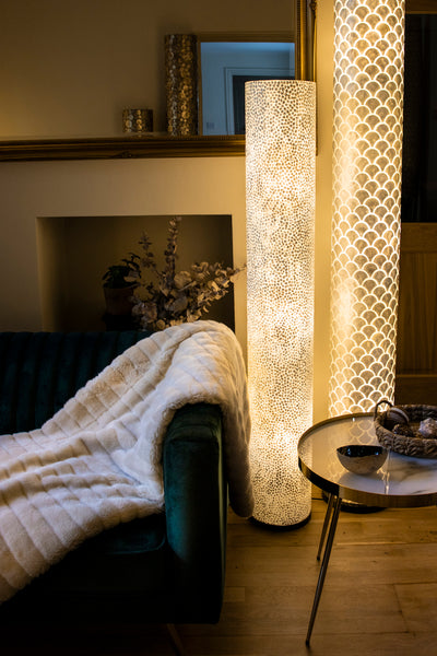 Mother of pearl floor lighting by Collectiviste