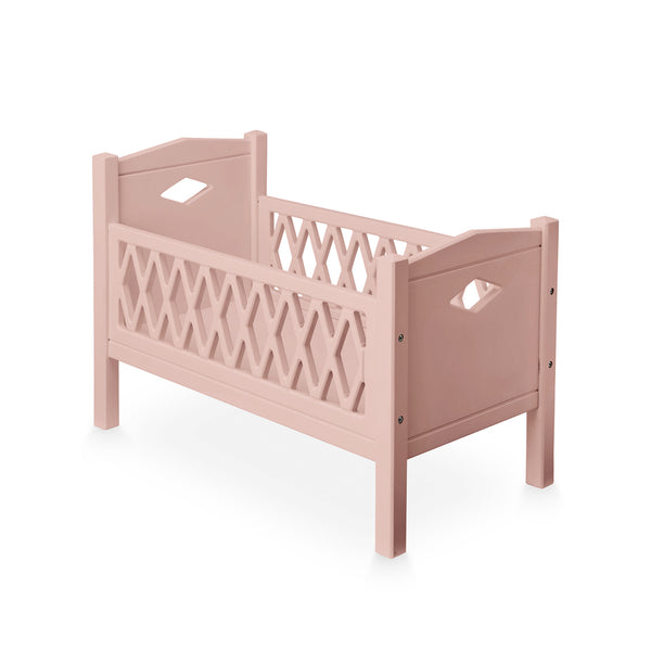 Harlekin Puppenbett - FSC Dusty Rose