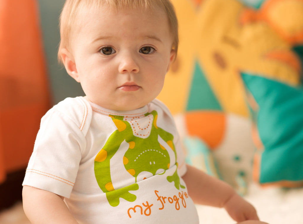 my froggie organic cotton onesie mirasa design clothing