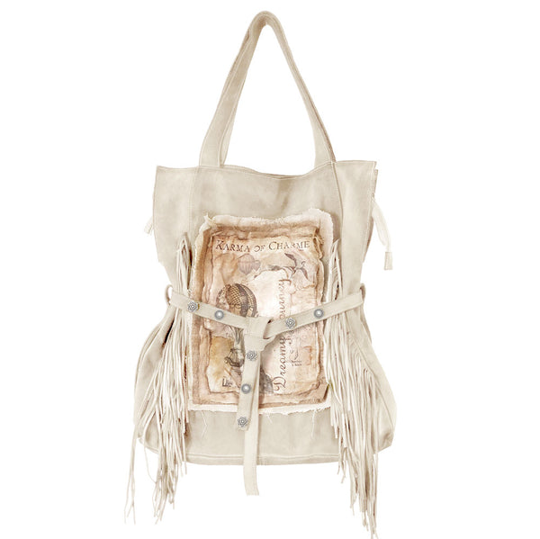 DREAMY BAG FRINGE - DIRTY WHITE