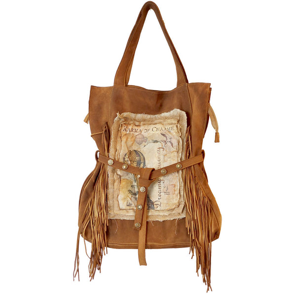 DREAMY BAG FRINGE - COGNAC