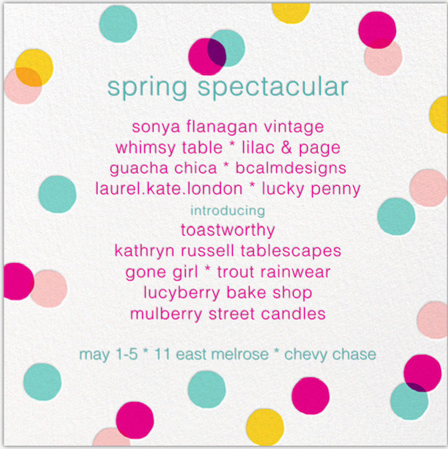 SPRING SPECTACULAR MAY 1-5